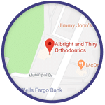 Map Graphic Lancaster Albright & Thiry Orthodontics Lancaster Manheim Elizabethtown Willow Street Quarryville PA